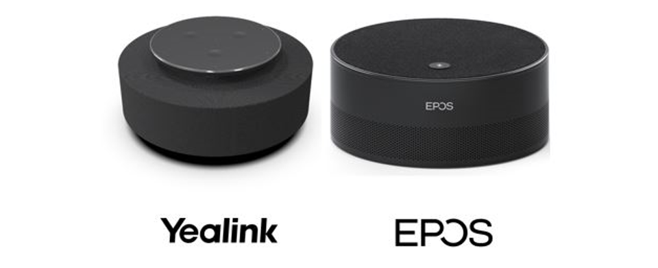 Intelligent speakers from Yealink and EPOS.